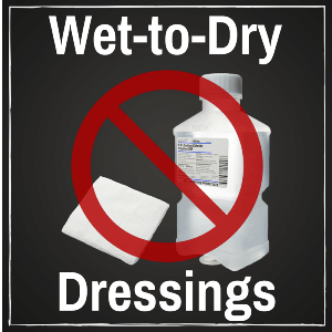 Wet-to-Dry dressings